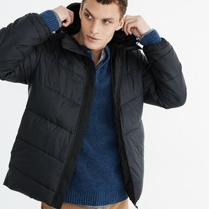 NWT Men's Madewell Packable Puffer Jacket in Black